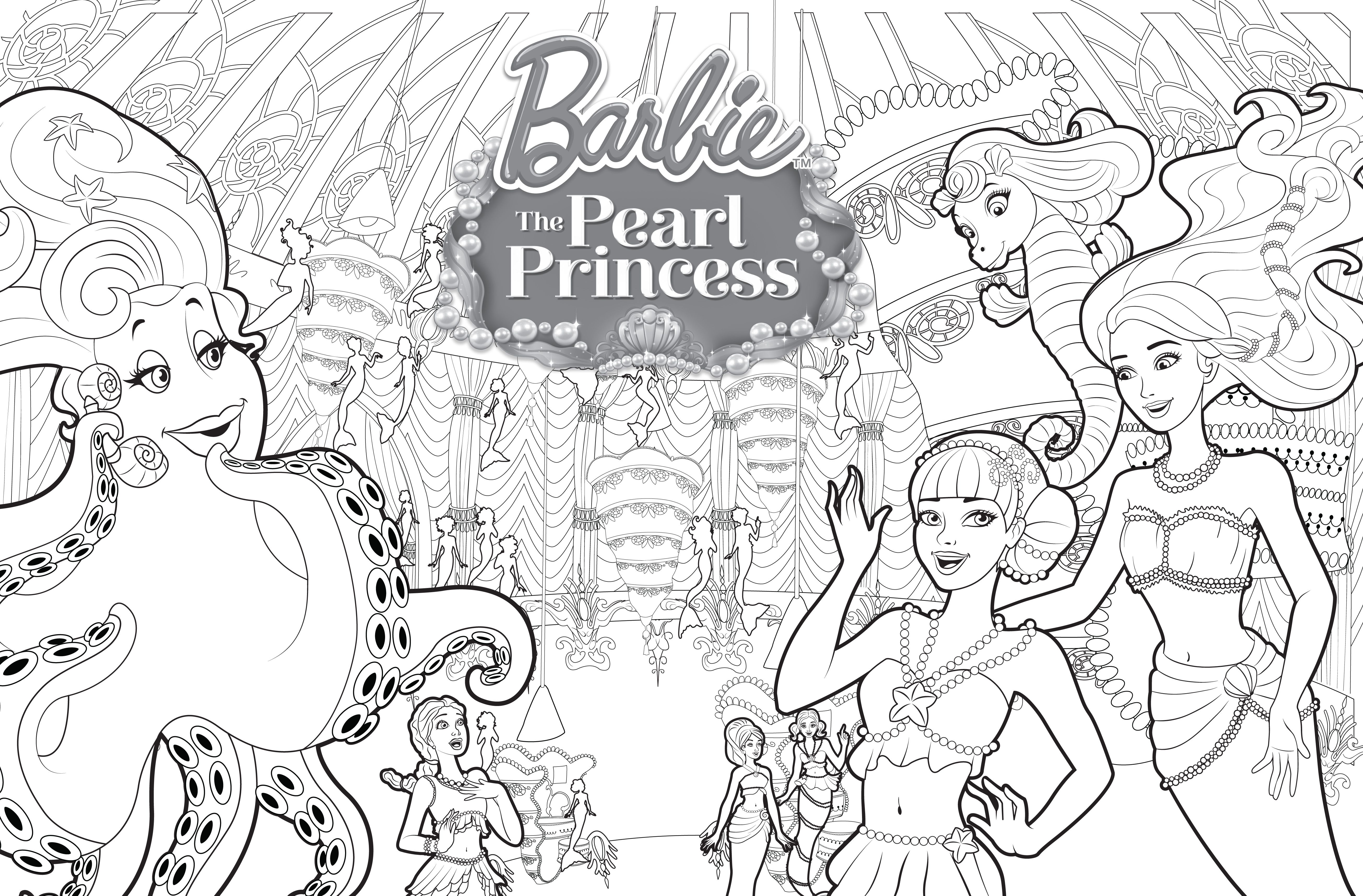 Coloring pages of princess barbie - Coloring Pages Barbie