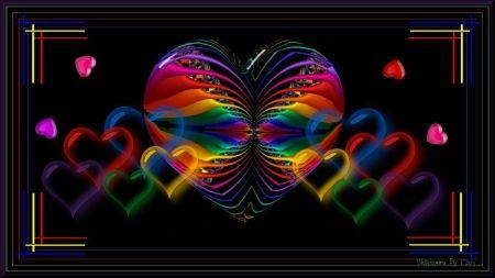 Glowing Hearts 1600x900 - Desktop Nexus Wallpapers