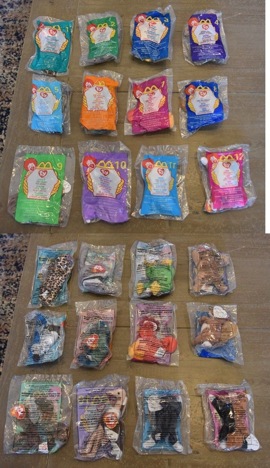 Beanie Babies-Original 19205  Unopened 1999 Mcdonalds Ty Teenie Beanie  Babies Complete Set Of 12 Lot Bundle -  BUY IT NOW ONLY   10 on  eBay   beanie ... 54bf7d9416e