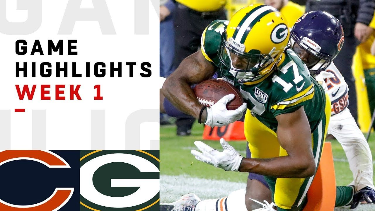 Bears Vs Packers Week 1 Highlights Nfl 2018 Brought To You By Smart E Green Bay Gameday Party Nfl