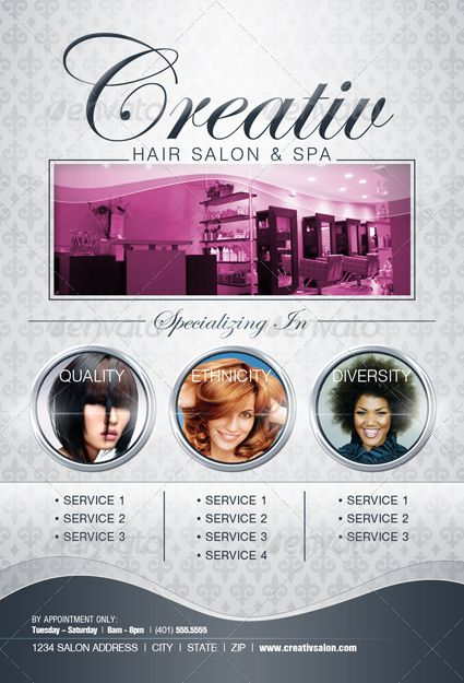 salon flyer - Google zoeken Salondingetjes Pinterest Salons - hair salon flyer template
