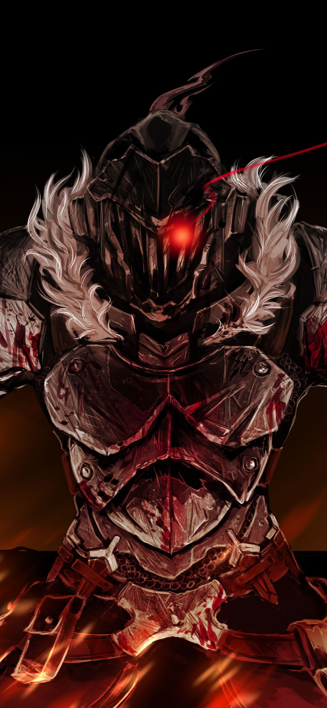 Anime Armour Suit Dark Goblin Slayer 1125x2436 Wallpaper