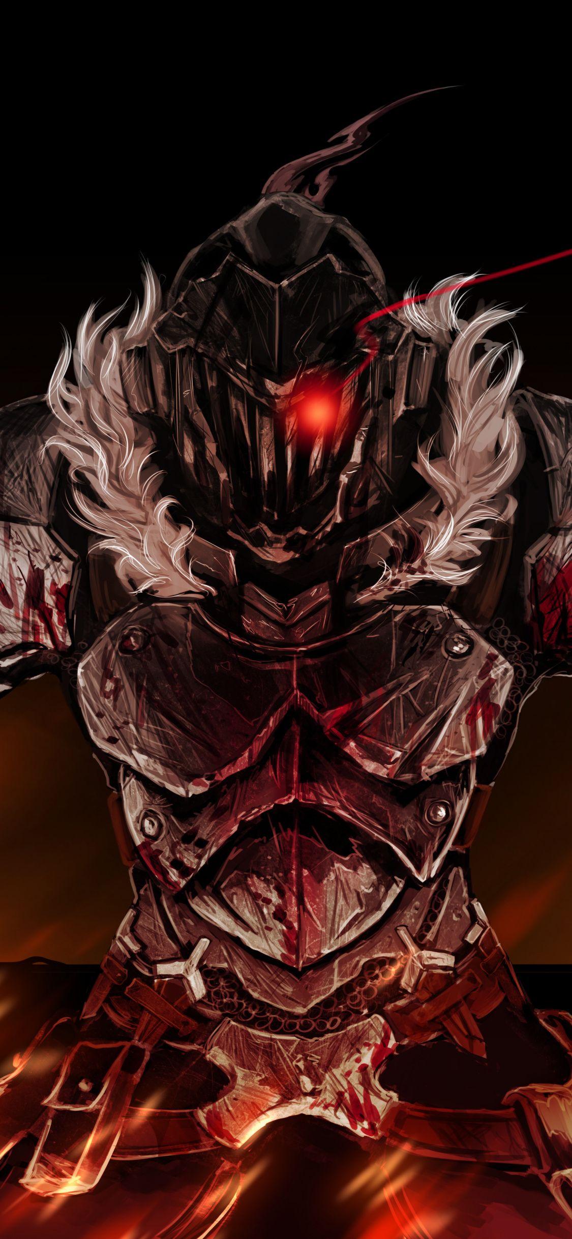 Anime, armour suit, dark, Goblin Slayer, 1125x2436
