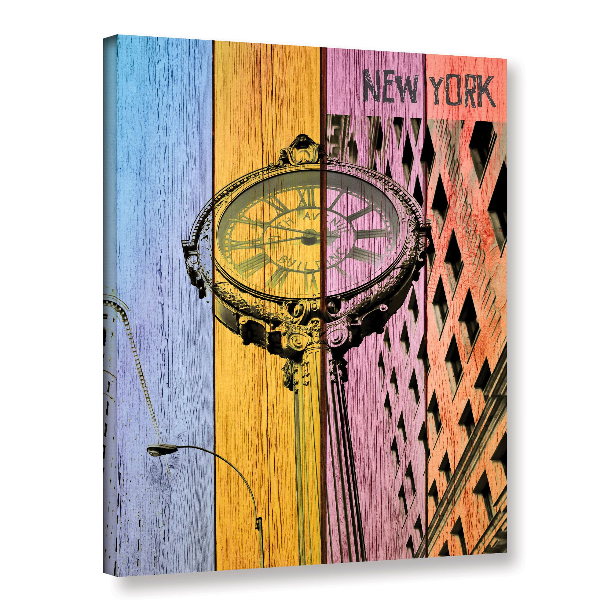 Fifth avenue by irena orlov graphic art on gallery wrapped canvas