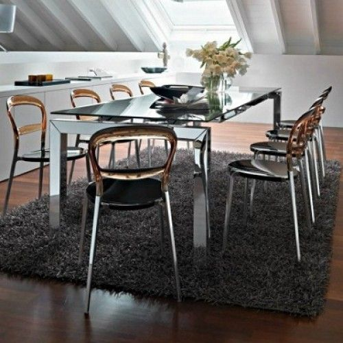 Airport One Calligaris.Calligaris Airport Extending Glass Table Black Glass