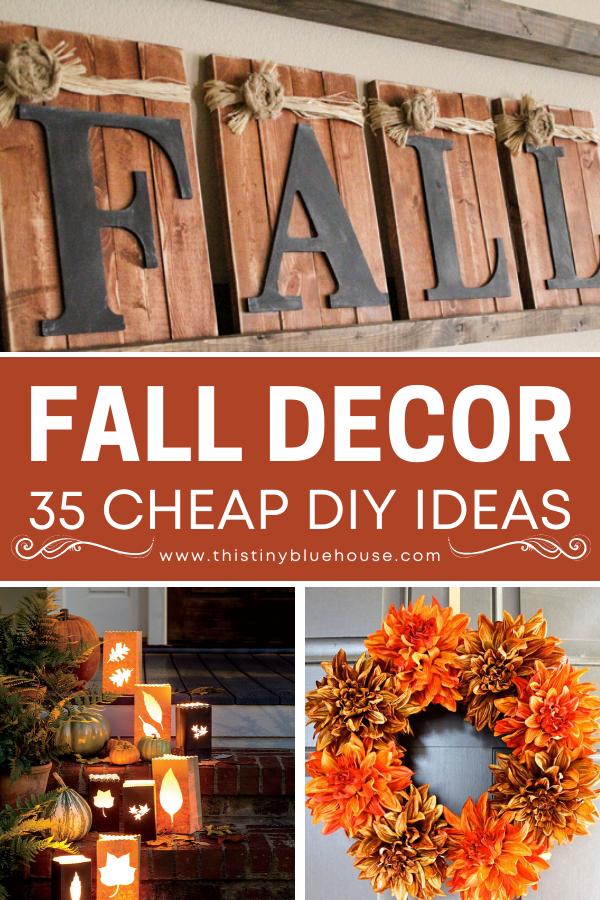 35 Stunning Dollar Store Diy Fall Decor Ideas Fall Decor Dollar Tree Easy Diy Fall Decor Fall Decor Diy