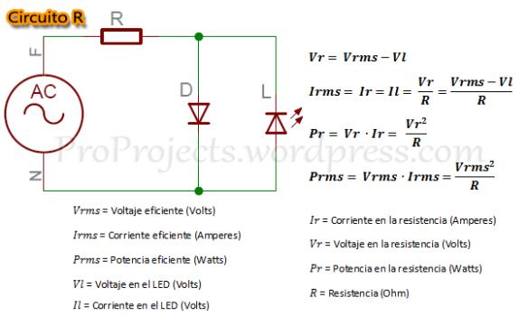 Circuito R y Formulas