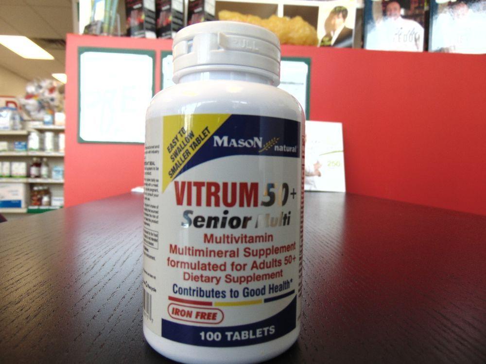 Vitrum 50 Senior Multivitamin 100 Count Dr Z S New Items Sale