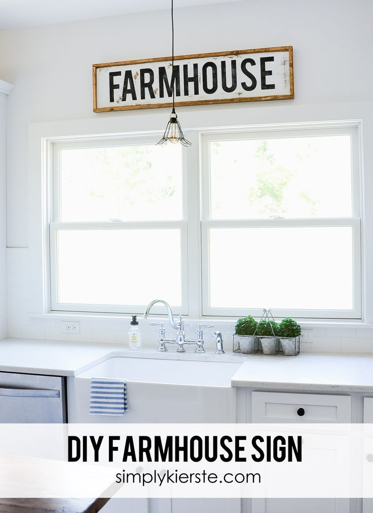 DIY Wood Framed Farmhouse Sign - This darling framed wood farmhouse sign is an easy project, and will add farmhouse charm to your kitchen or dining room! Tutorial included!
