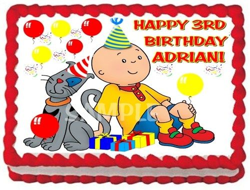 CAILLOU EDIBLE CAKE TOPPER IMAGE DECORATION FOR BIRTHDAY PARTY
