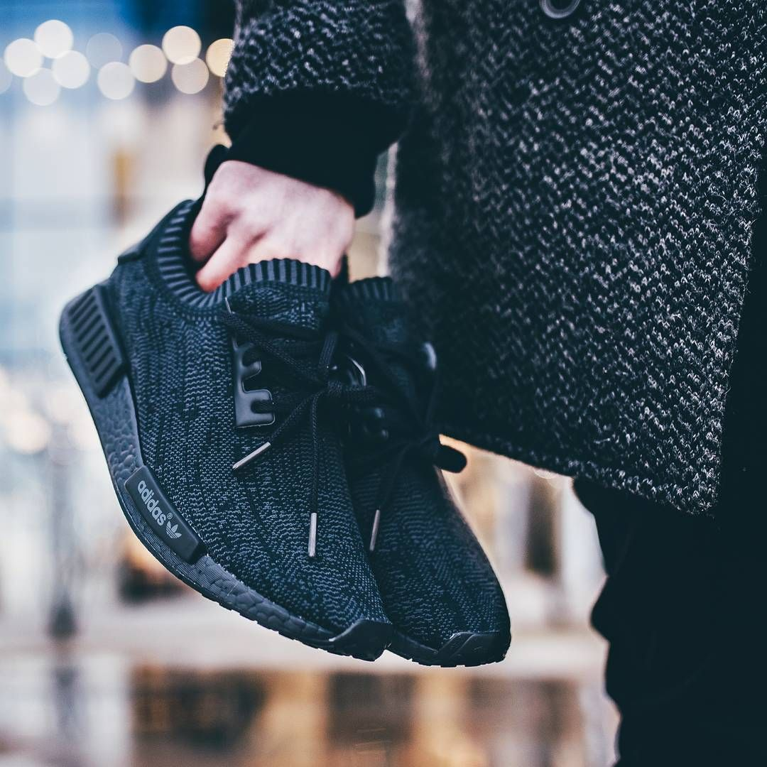 buy online 0fefa 0f53c Adidas NMD R1 Primeknit Pitch Black - 2016 (by filp)
