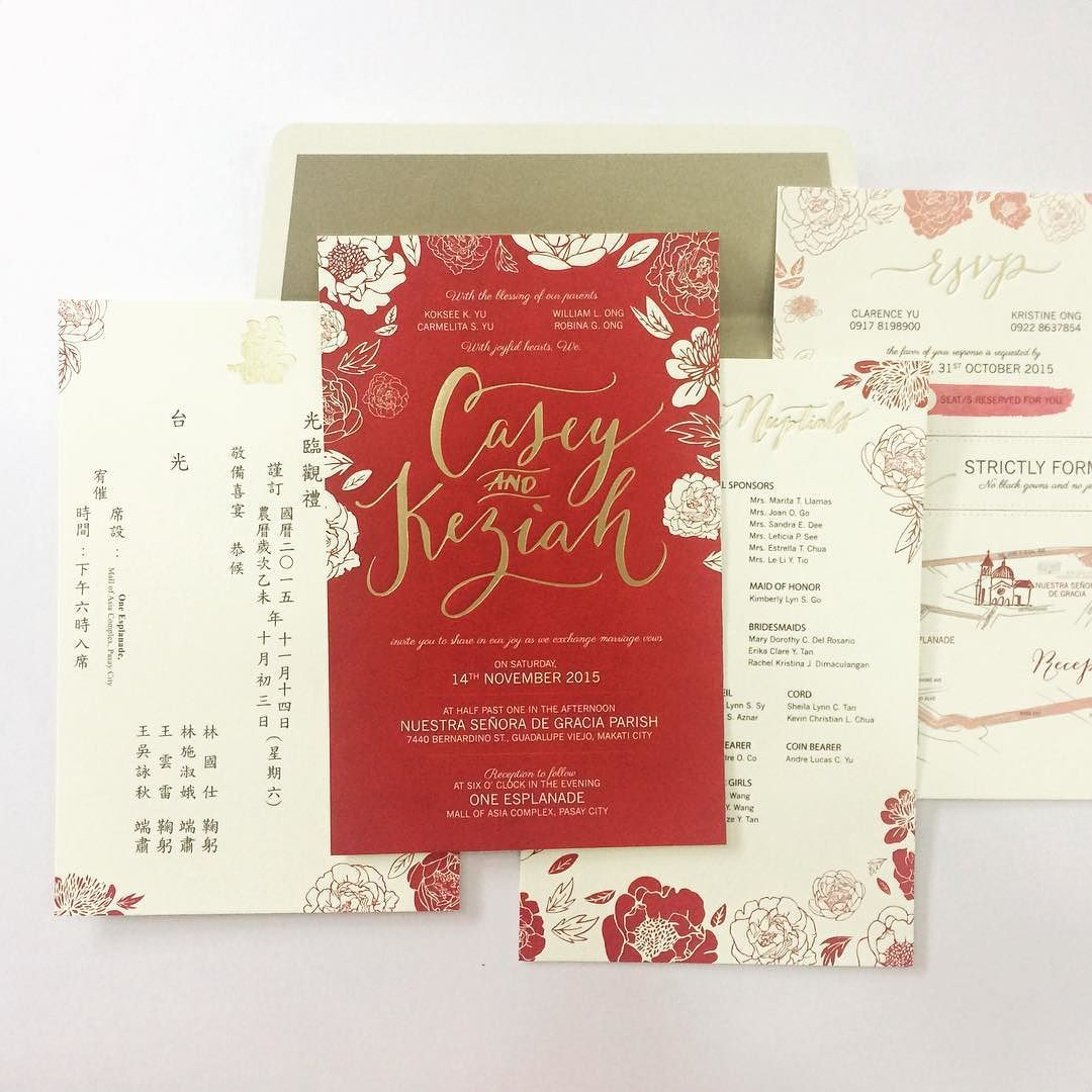 Best wishes to the newlywed! Bold reds and florals for this wedding ...