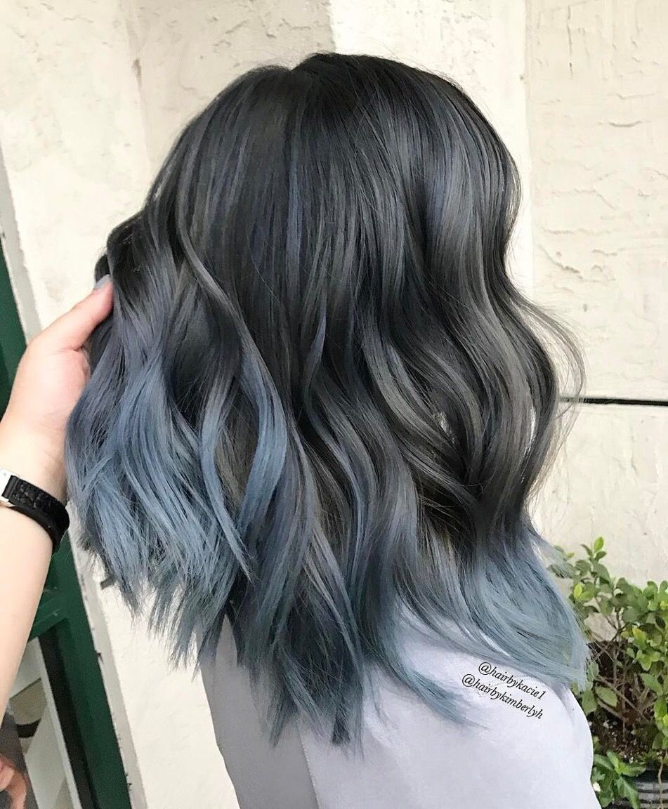 Smokey blues | Hairstyle | Pinterest | Hair coloring, Hair style ...
