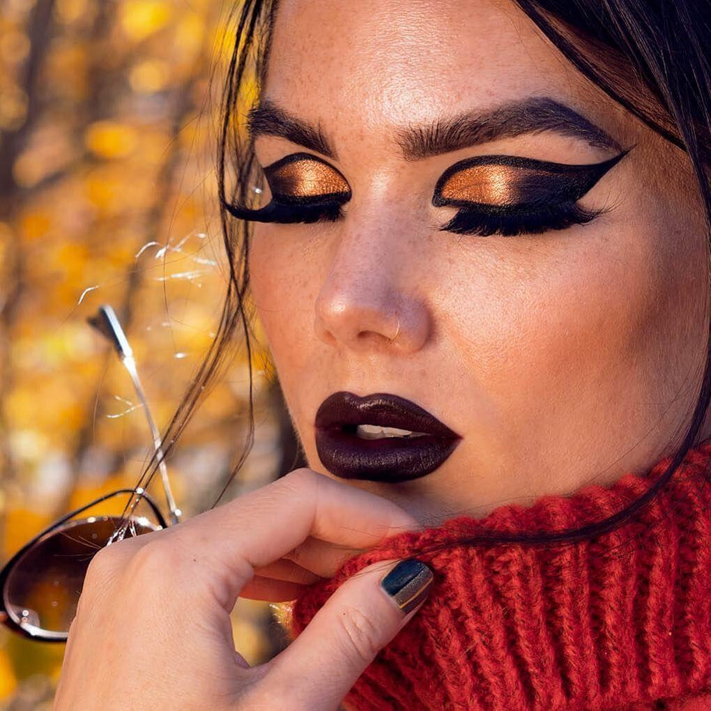 Autumn vibes 🍁🍂 lindahallberg mua fotd (With images