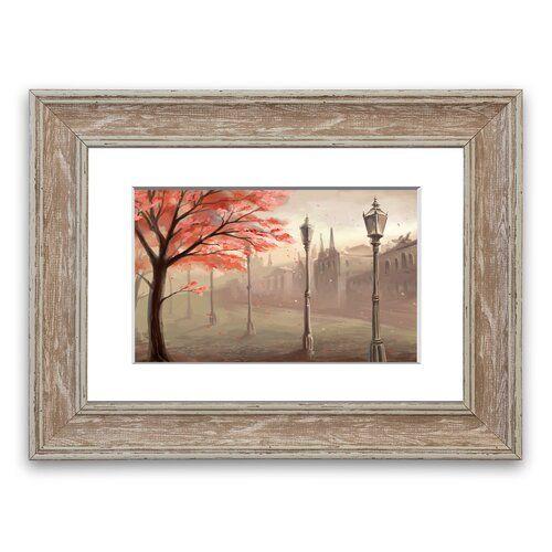 East Urban Home Gerahmtes Poster Roter Baum in der alten Stadt | Wayfair.de