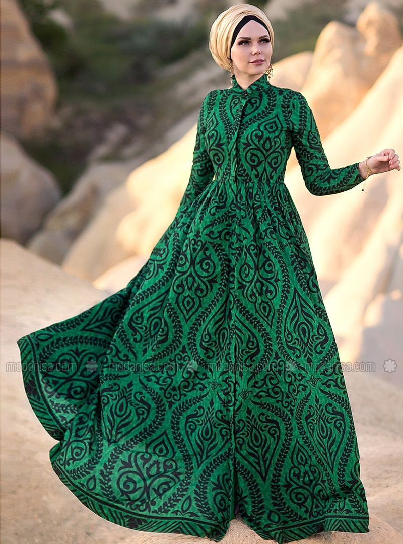 b165055e2a The perfect addition to any Muslimah outfit, shop Muslima Wear's stylish Muslim  fashion Green - Shawl - Fully Lined - Point Collar - Muslim Evening Dress  ...