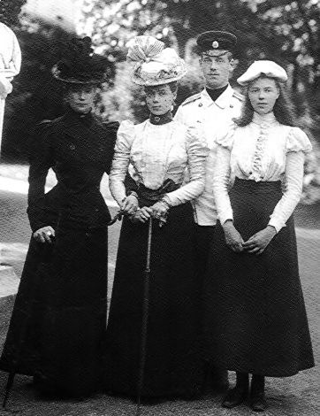 Empress Marie Feodorovna of Russia with Grand Duchess Xenia, Grand Duke Mikhail, Grand Duchess Olga