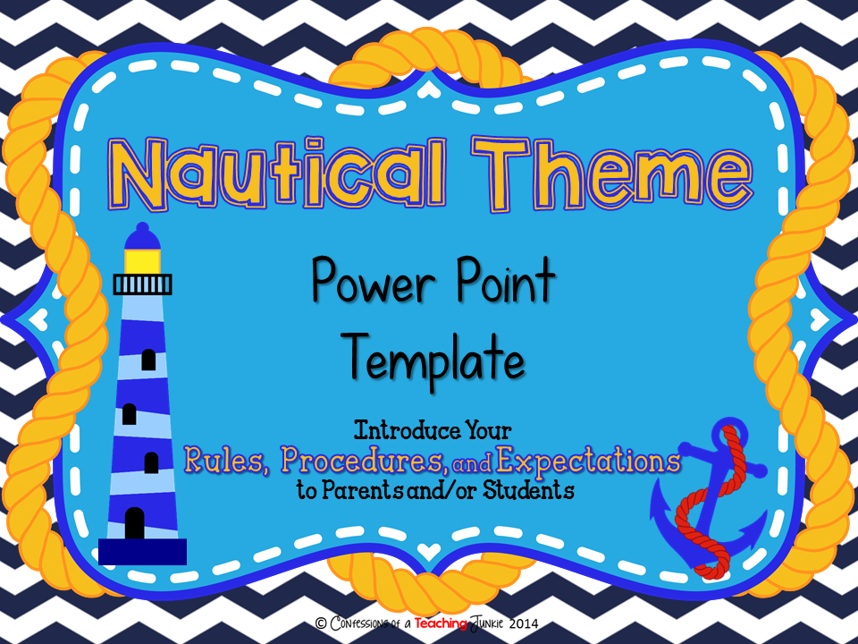 Nautical theme parent information night power point template power nautical theme parent information night power point template toneelgroepblik Choice Image