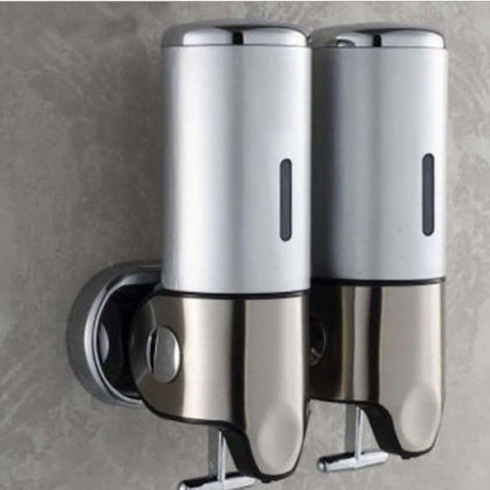 New Zuwit Double Wall Mount Soap Dispenser Hand Bathroom Kitchen Liquid Foam Lot