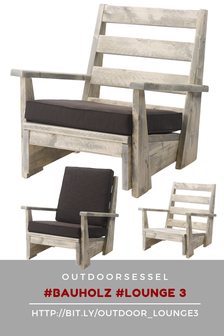 Lounge Sessel Outdoor Holz