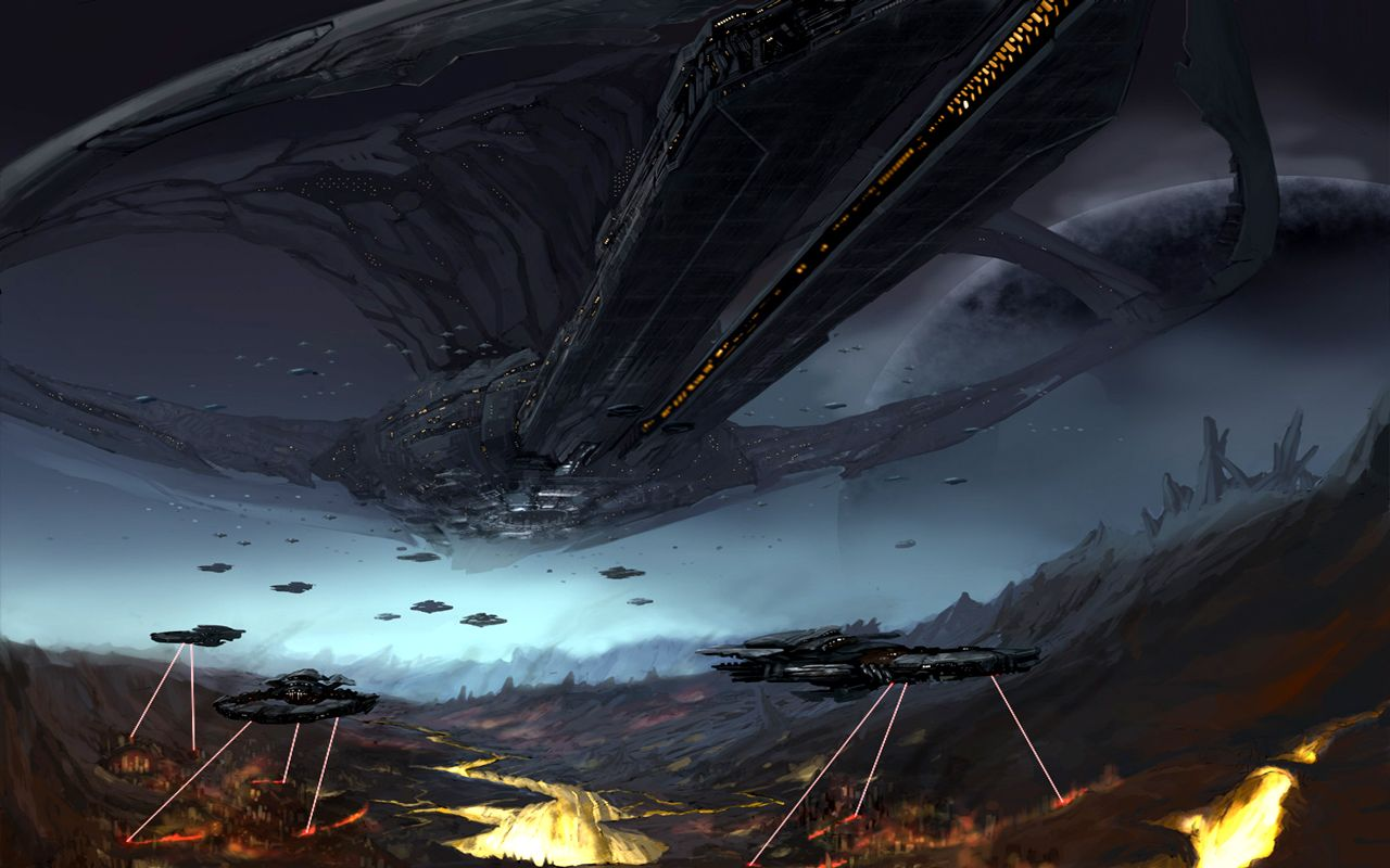Large spaceship sci fiction selection earth space - Space wallpaper large ...