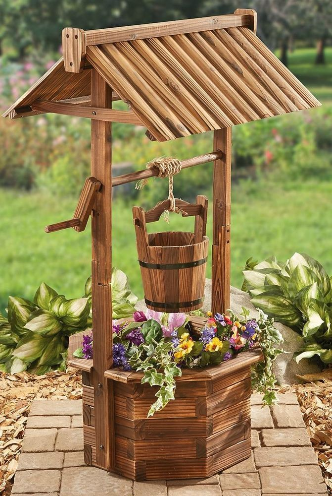 Planter Wood Flower Bucket