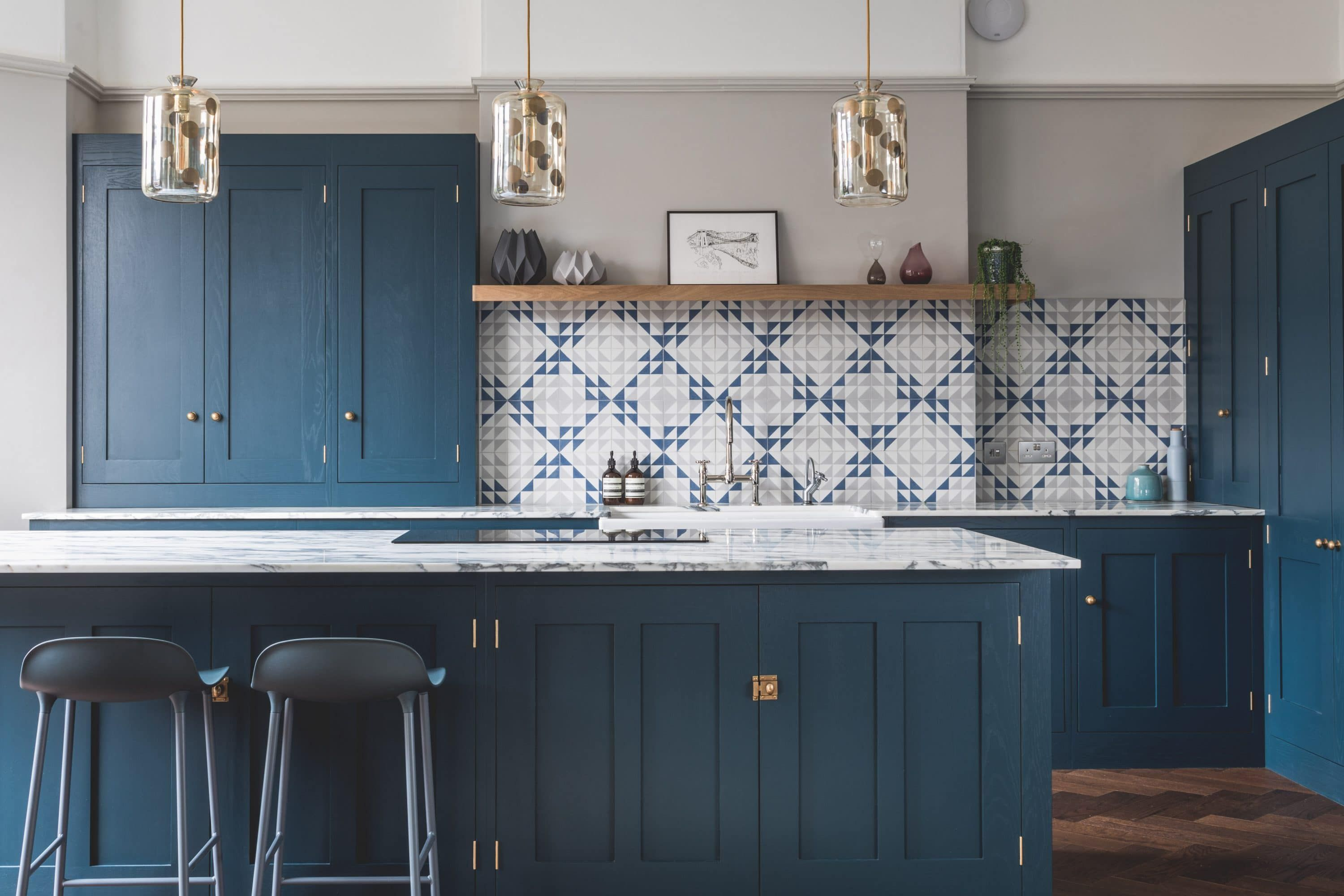 Best Dark Blue Geometric Kitchen Dark Blue Geometric Kitchen 400 x 300