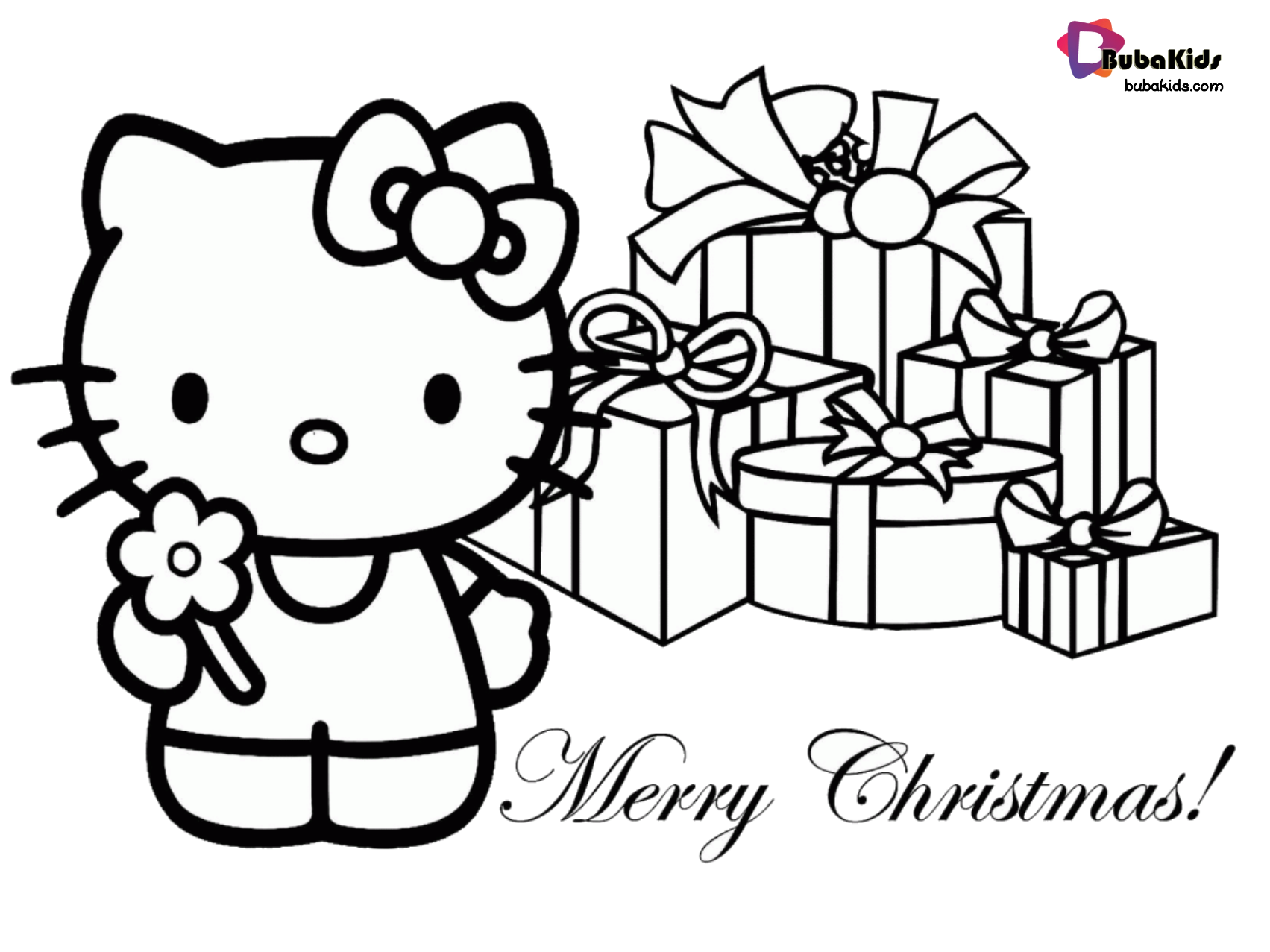 hello kitty merry christmas coloring picture. Collection of hello