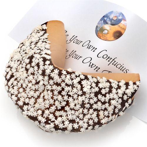 usa Cookies - Snowflake Sprinkles Giant Fortune Cookie