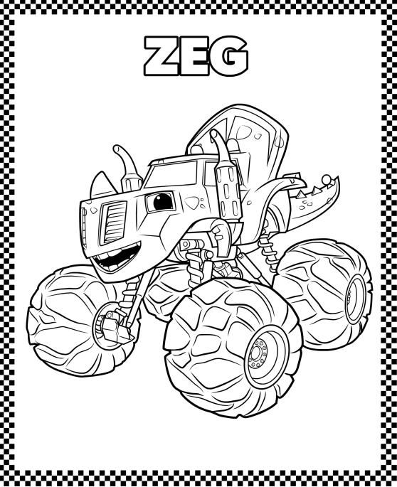 Monster Truck Coloring Pages | Cartoon Coloring Pages | Pinterest