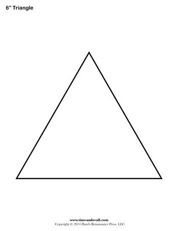 It's just a graphic of Printable Triangle inside big