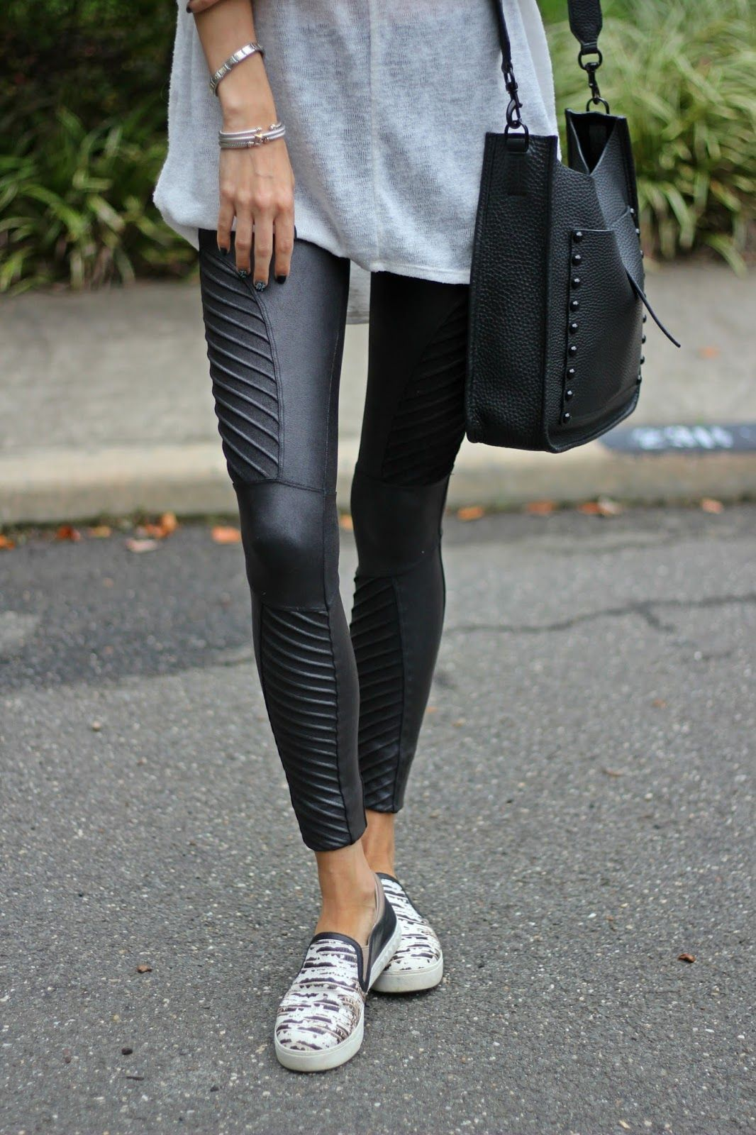 WEEKEND CASUAL | Clothes | Spanx leather leggings, Leather