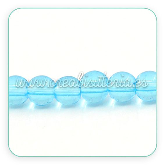 Abalorios de cristal azul www.creabisuteria.es