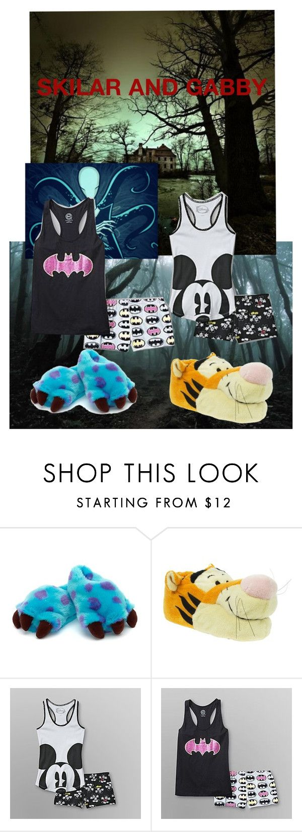 """""""Skilar and Gabby looking for Slender Man and Slender's Mansion"""" by bad-kitty-creepypasta ❤ liked on Polyvore featuring Disney"""