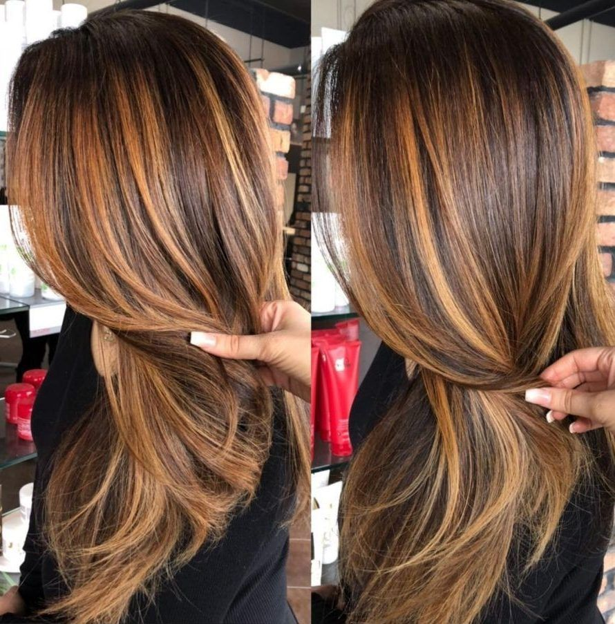 31 Copper Brunette Hair Color Ideas For This Spring 2019 Copper Brunette Hair Col Fall Hair Color For Brunettes Brown Hair With Highlights Brunette Hair Color