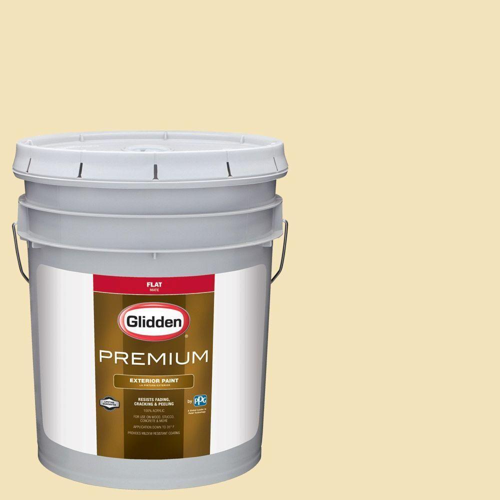 Glidden Premium 5-gal. #HDGY43D Haystack Flat Latex Exterior Paint