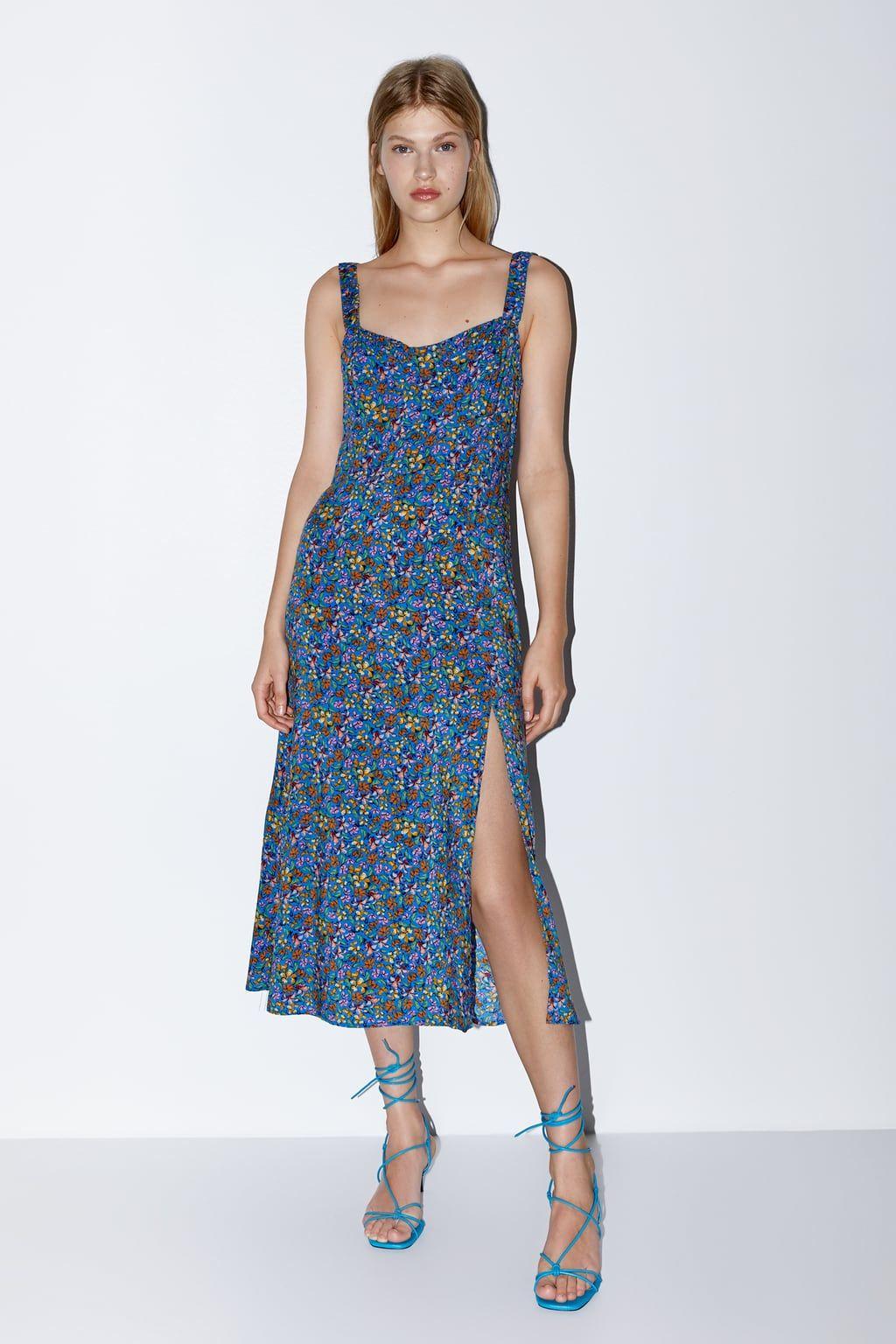 Floral Print Dress View All Dresses Woman Zara United States Floral Dresses Long Fashion Clothes Women Print Dress [ jpg ]