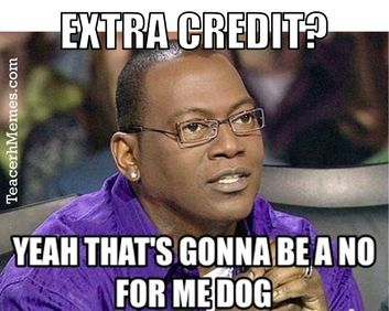 It S The End Of The Semester Which Means It S Time Students Request Extra Credit 12 Ways To