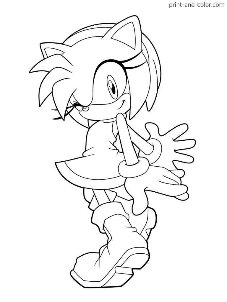 Sonic The Hedgehog Coloring Pages Print And Color Com Coloring Pages Hedgehog Colors Printable Coloring Pages
