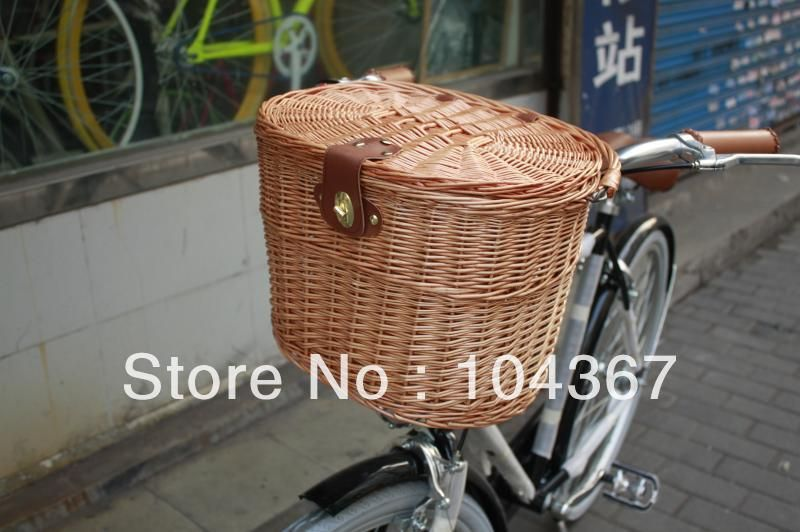 Hot New Bicycle Bike Willow Wicker Basket Classic Style With