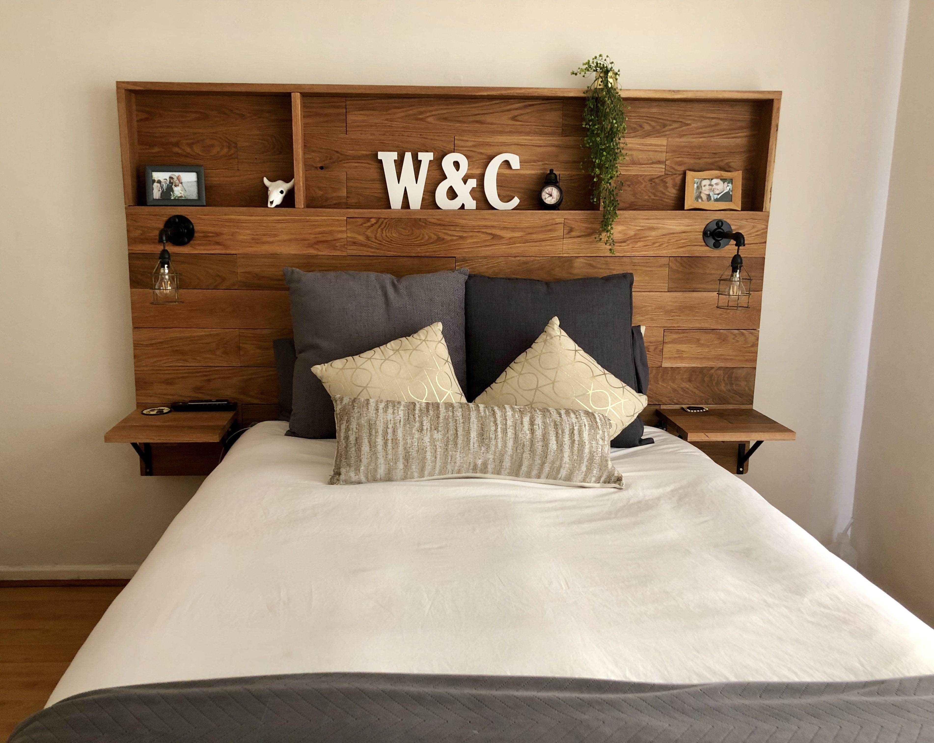 Diy Wooden Headboard With Shelves Diy Wood Headboard Headboard With Shelves Bedroom Headboard