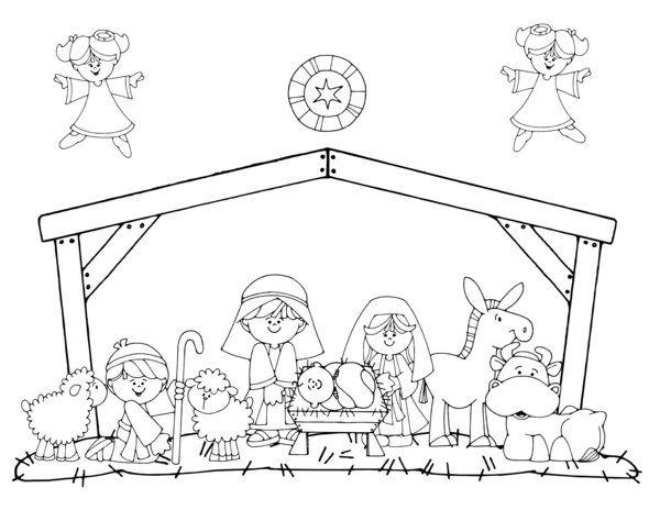 jesus nativity christmas coloring page