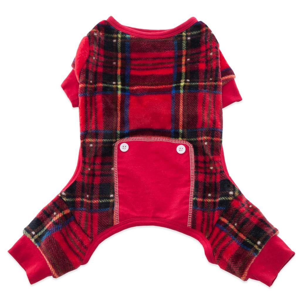 Flannel shirts for dogs  Product Image for Pawslife Plaid Pet Pajamas in Red  out of