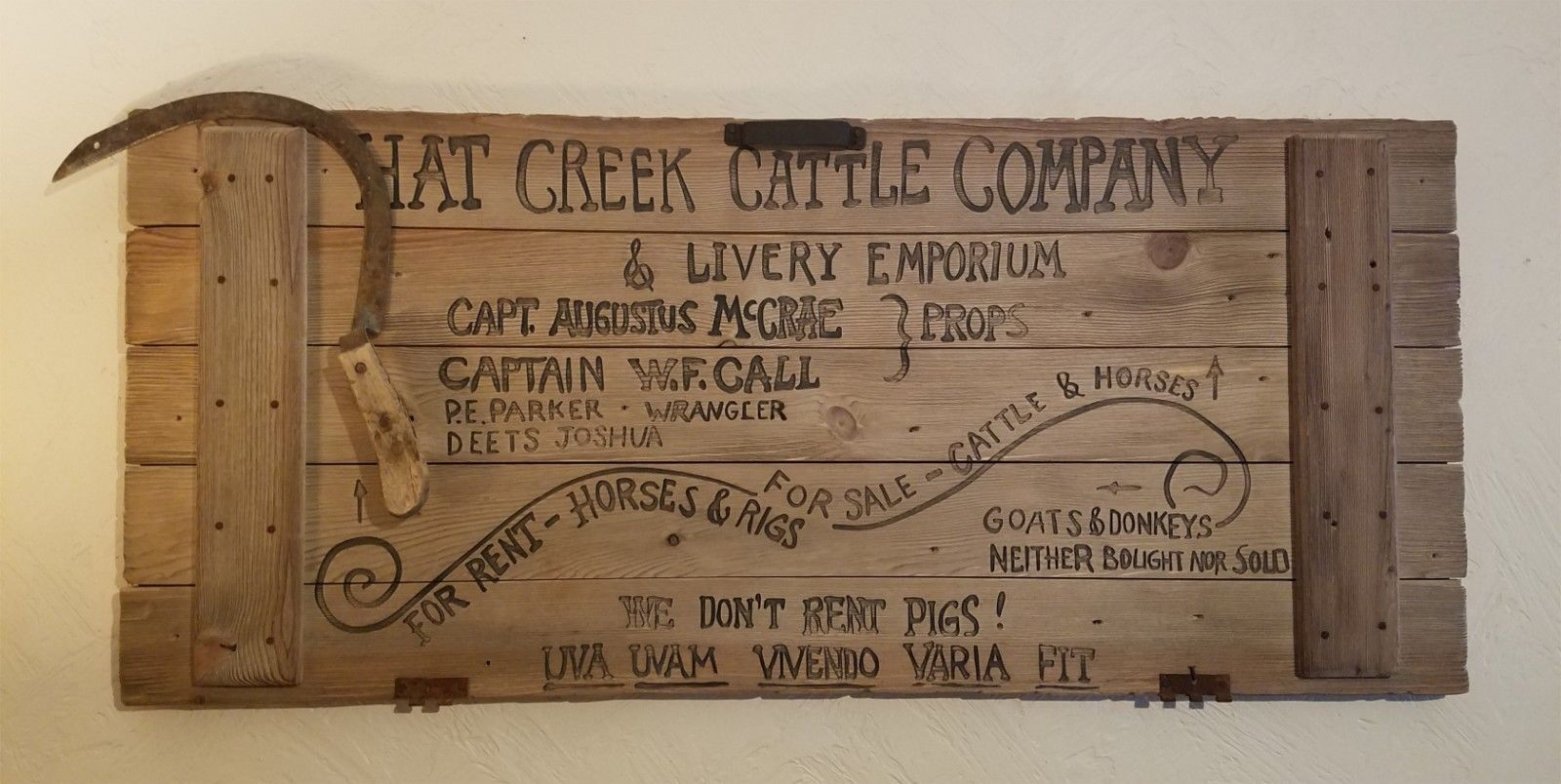 Hat Creek Cattle Company Lonesome Dove Replica Sign Poystyrene For Sale Online Ebay Lonesome Dove Sign Hat Creek Cattle Company Plaque Sign