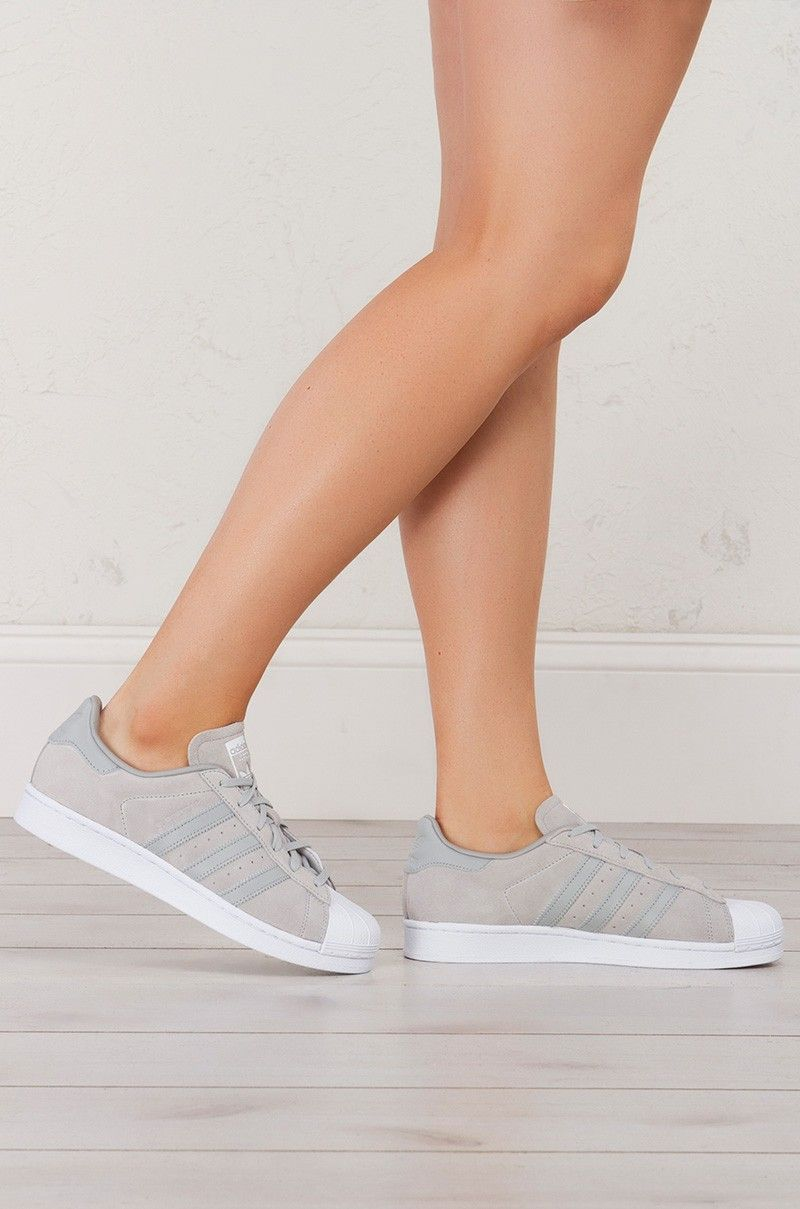 65187e0f1454 Adidas Superstar Sneakers in Onix Onix White