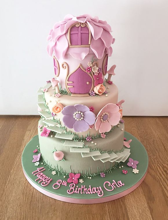 Fairy House Birthday Cake Jpg 580 760
