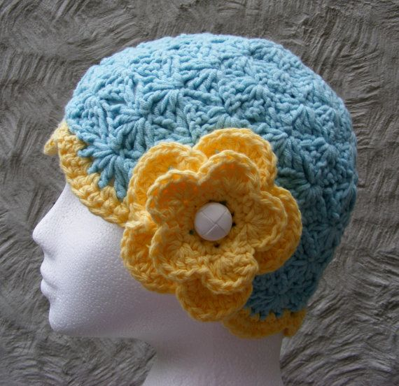 Crochet Hat Pattern Flapper Cloche Hat Chemo Hat With Flower
