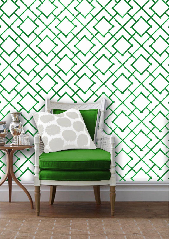 Bamboo Trellis Repositionable Peel N Stick Wallpaper Custom Sizes And Lengths Vinyl Free Non Toxic