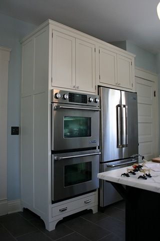 Oven And Fridge Side By Side Feet On Cabinets To Look