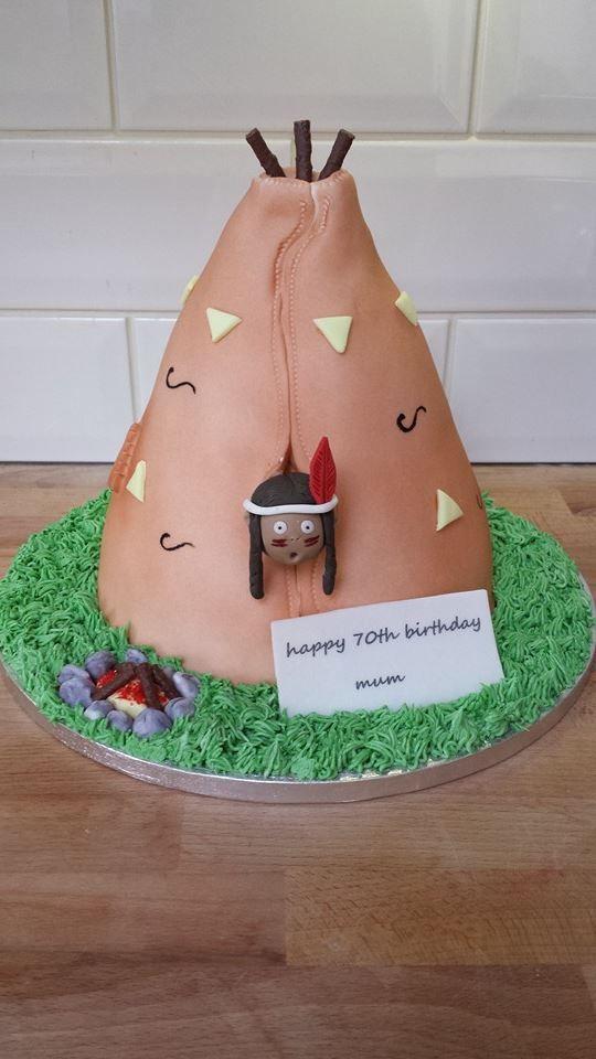 my teepee cake :) x